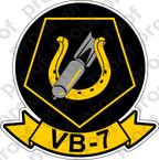 STICKER USN VB 7 BOMBING SQUADRON
