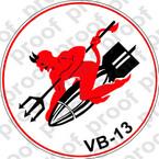STICKER USN VB 13 BOMBING SQUADRON