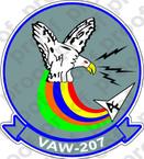 STICKER USN VAW 207 CARAEWRON