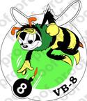 STICKER USN VB 8 BOMBING SQUADRON