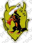 STICKER USN VB 84 BOMBING SQUADRON