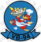 STICKER USN VB 94 BOMBING SQUADRON