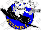 STICKER USN VBF 80 SCRAPPERS