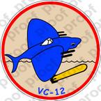 STICKER USN VC 12 Fighting Omars A