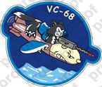 STICKER USN VC 68 COMPOSITE SQUADRON