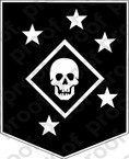 STICKER MARINE RAIDER BLACK N WHITE