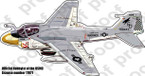 STICKER USMC UNIT VMA 533 HAWKS A6 INTRUDER