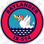 STICKER USN IX 514 BAYLANDER
