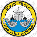 STICKER USN AS 41 USS MCKEE