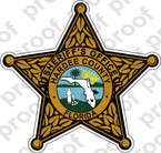 STICKER SHERIFF FLORIDA HARDEE COUNTY BRZ