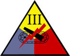 STICKERS US ARMY UNIT 3rd Armored Corps