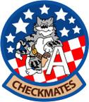 STICKER USN VF 211 FIGHTER SQUADRON CHECKMATE A