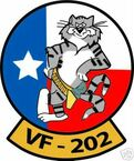 STICKER USN VF 202 FIGHTER SQUADRON TOMCAT