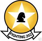 STICKER USN VF 202 FIGHTER SQUADRON