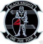 STICKER USN VF 154 FIGHTER SQUADRON BLACK KNIGHTS