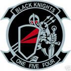 STICKER USN VF 154 FIGHTER SQUADRON BLACK KNIGHT