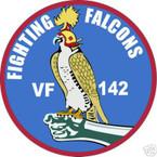 STICKER USN VF 142 FIGHTER SQUADRON FIGHTNG FALCON