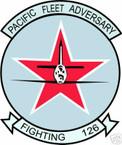 STICKER USN VF 126 FIGHTER SQUADRON PACIFIC