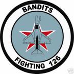 STICKER USN VF 126 FIGHTER SQUADRON BANDITS