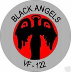 STICKER USN VF 122 FIGHTER SQUADRON BLACK ANGELS