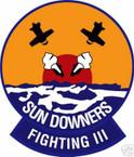 STICKER USN VF 111 FIGHTER SQUADRON SUNDOWNERS