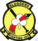 STICKER USN VF 103 FIGHTER SQUADRON SLUGGERS