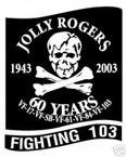 STICKER USN VF 103 FIGHTER SQUADRON FIGHTING