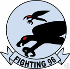 STICKER USN VF  96 FIGHTER SQUADRON