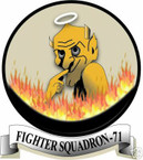 STICKER USN VF  71 FIGHTER SQUADRON