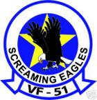 STICKER USN VF  51 FIGHTER SQUADRON SCREAMING EAGLES