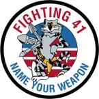 STICKER USN VF  41 FIGHTER SQUAD NAME UR WEAPON