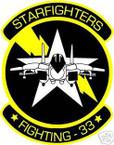 STICKER USN VF  33 FIGHTER SQUAD STARFIGHTERS