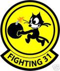 STICKER USN VF  31 FIGHTER SQUADRON FIGHTING