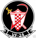 STICKER USN VF  24 FIGHTER SQUADRON RED CHECKERS