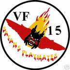 STICKER USN VF  15 FIGHTER SQUADRON SATANS PLAYMATE