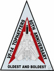 STICKER USN VF  14 FIGHTER SQUADRON TOPHATTERS