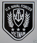 STICKER USN VET VIETNAM US NAVAL FORCES BLK/WHT