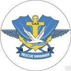 STICKER USN VET US NAVY RESCUE SWIMMER COLOR