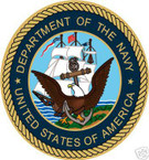 STICKER USN VET U.S. DEPARTMENT OF THE NAVY SHIELD