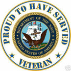 STICKER USN VET PROUD NAVY VETERAN