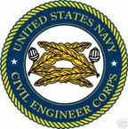 STICKER USN VET CIVIL ENGINEER CORPS