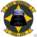 STICKER USN VAQ 209 ELECTRONIC ATTACK WING