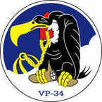 STICKER USN US NAVY VP 34