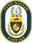STICKER USN US NAVY T-ATF 169 USS NAVAJO