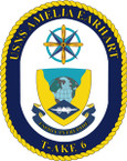 STICKER USN US NAVY T-AKE 6 USS A EARHART