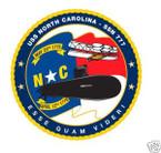 STICKER USN US NAVY SSN 777 USS NORTH CAROLINA