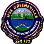 STICKER USN US NAVY SSN 772 GREENEVILLE SUBMARINE
