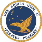 STICKER USN US NAVY PHM 44 USS AQUILA
