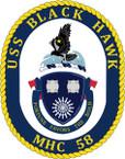 STICKER USN US NAVY MHC 58 USS BLACK HAWK