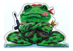 STICKER USN US NAVY MERCFROG